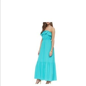 Juicy Couture Ruffled Strapless Maxi dress
